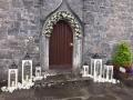 Door with white lanters