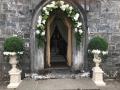White Vases at Back door