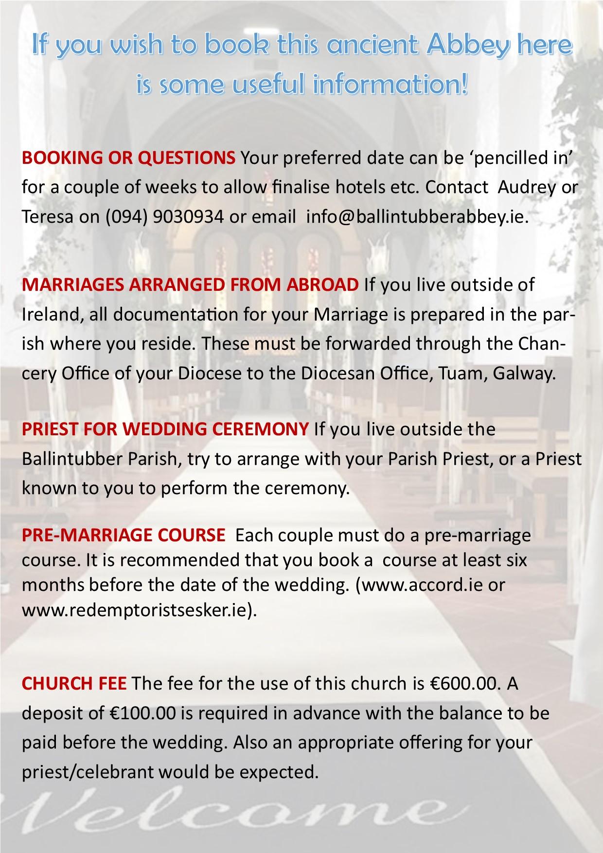 weddings ballinrobe about